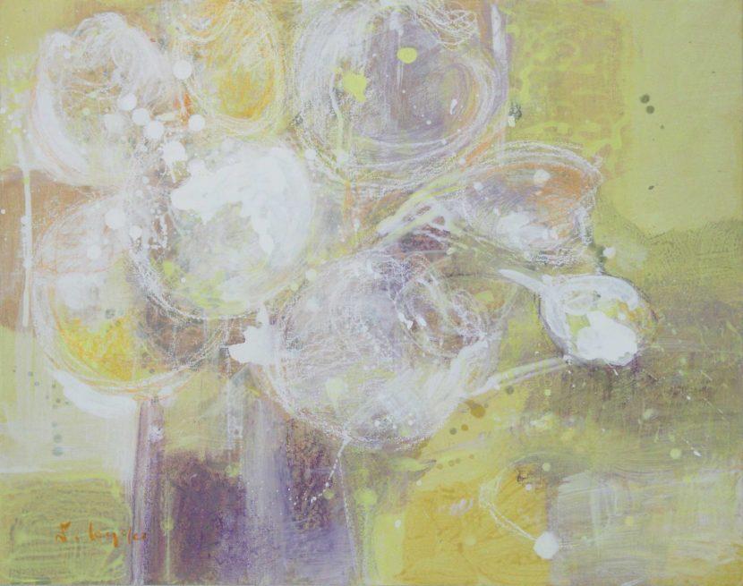 白い花 38×45.5cm